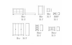 Размеры спальни Karat white(Карат Вайт)