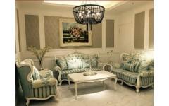 Белый классический набор мебели в гостиную Классик, Малайзия