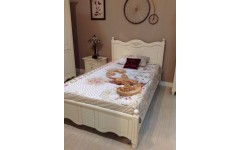 Кровать классическая белая Яна от румынской фабрики SIMEX
