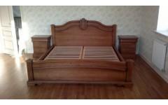 Кровать из натурального дерева в мебельный гарнитур Ретро, SAFO