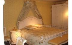Белая кровать 1800  с твердым изголовьем Карпентер 208, Испания