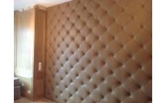 Мягкая панель из натуральной кожи для кабинета руководителя