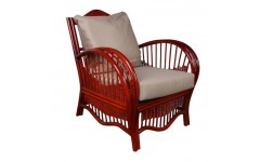 Темное плетеное кресло Нью Йорк с подушками для беседки, Украина