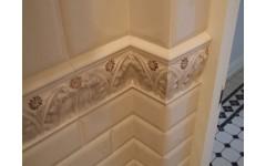 Мраморная стеновая панель из натурального камня для ванной комнаты