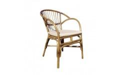 Полукруглое кресло из натурального ротанга Флорида для сада, Украина