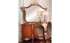 Ореховый буфет с золотом в гостиную Матильда в стиле барокко, Аванти