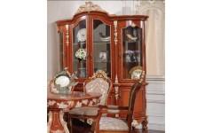Ореховая четырехдверная витрина в стиле барокко Матильда, Аванти