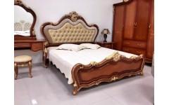 Классическая кровать 1800 с золотой патиной Матильда, Аванти