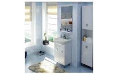 Белая мебель Мобис с умывальником Руна 70 см.