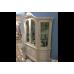Белая элитная четырехдверная витрина Ирма, Аванти