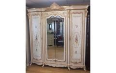 Белый резной шкаф для одежды в спальню Лайма, Китай