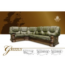 Большой кожаный угловой диван GRIZZLY, BENELUX