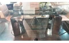DT8180S Стол серебристый металлик и стекло, Китай