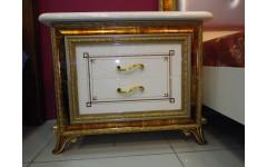 Тумбочка прикроватная Луи 801 с отделкой в золоте