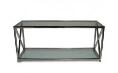 DT-1094HW Прямоугольный стеклянный столик с декором из метала