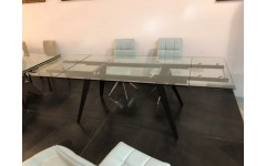 D2050AB Стеклянный стол в стиле лофт