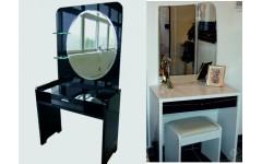 Стол туалетный с пуфиком Черный Диамант