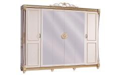 Шкаф белый шестидверный в спальный гарнитур Джанни