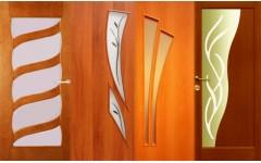 Красивые ламинированные распашные двери