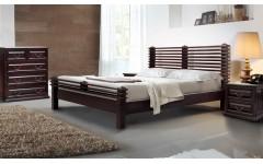 Деревянная кровать Акеми в стиле лофт, Украина