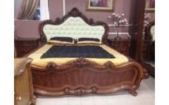 Кровать из МДФ с мягким изголовьем в спальню Эмили