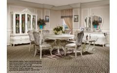 Стол круглый с мягкими стульями Версаль Энигма