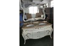 Белый комплект мебели В-5 для ванной комнаты , ENIGMA