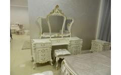 Белый туалетный стол с зеркалом Людовик, Китай