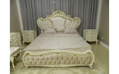 Белая кровать 1800 в спальню Людовик, Малазия