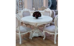 Круглый стол с позолотой Шампань, ENIGMA