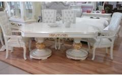 Белая столовая группа с золотой патиной Эрмитаж