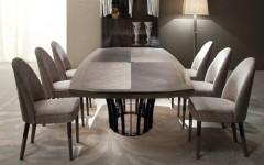 Обеденный стол в сером цвете из натурального дерева ALCHEMY