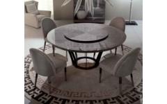 Круглый обеденный стол из дерева сикаморе ALCHEMY