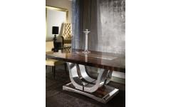 Прямой раздвижной стол LUNA, дерево сикамор, Италия