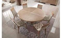 Круглый обеденный стол из массива сикаморе SUNRISE, GIORGIO COLLECTION