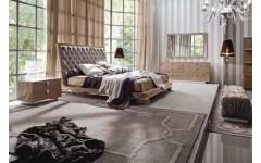 Кровать с мягким изголовьем SUNRISE, Италия