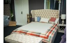 Классическая двухспальная кровать с подъемным механизмом Британия
