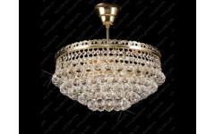 L15 523-04-4 Круглая люстра из шаровидного хрусталя Богемия, Словаччина, Glass LPS