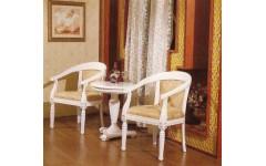 Белый резной столик с креслами в гостиную от Империал