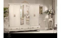 Белый шкаф на 6 дверей Прованс, Инстайл