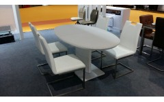 Круглый белый стол ТОМ-2