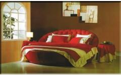 Итальянская круглая кожаная кровать Барталомео Bartolomeo