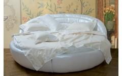 Кожаная круглая кровать Белиссима Италия