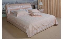 Итальянская белая кожаная кровать Лоренцо