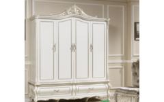 Белый классический шкаф для одежды в спальню Силена