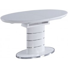 Белый круглый раздвижной стол Luna Китай