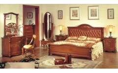 Кровать А 1800 с мягким изголовьем Элизабет, Карпентер 201