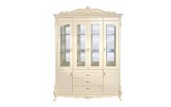 Белая классическая четырехдверная витрина Катрин