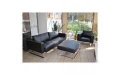 Черный диван из качественного кожзама ARPATEK, Китай