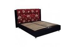 Кровать-подиум №1 с обитым изголовьем ( велюр) Матролюкс
